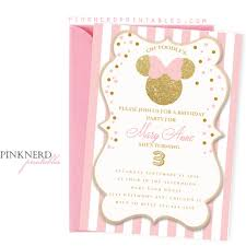 polka dot invitations minnie mouse photo invitation