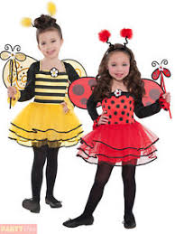 childs ballerina ladybird bumble bee costume girls ladybug fancy