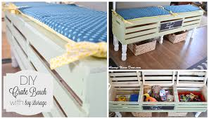 Bench Toy Storage Diy Large Crate Toy Storage Bench Home Depot Giveaway