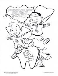 fight for good oral health coloring page children u0027s dental