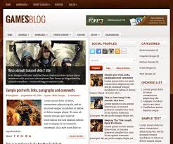 gamesblog blogger template blogger templates 2017