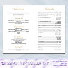Church Programs Templates Gold Wedding Program Template Catholic Order Of Ceremony