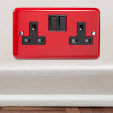 football bedroom decor decorative football light switch made in designer pillar box red british made double plug switch socket cq xy5b pr perfect for