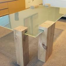 Battery Table L New Glass Coffee Table With Solid Timber Legs And Battery Lighting