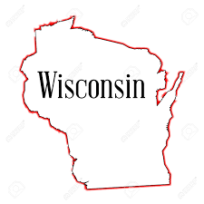Wisconsin State Map by Outline Map Of The American State Of Wisconsin Royalty Free