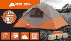 Trail Pop Up Awning Ozark Trail Instant 10 U0027 X 9 U0027 Dome Camping Tent Sleeps 6 Walmart Com
