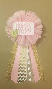 baby shower pins pink and gold baby shower pin to be pin flower ribbon