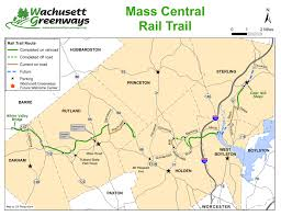 Massachusetts State Map by Mass Central Rail Trail Maps Wachusett Greenways
