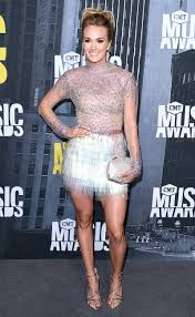 carrie underwood cmt awards sequin minidress and hair