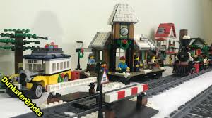 lego winter station set 10259 unboxing and layout