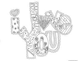 7 images of i love you coloring cards printable printablee