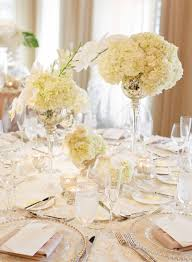 reception décor photos trio of mercury glass centerpieces