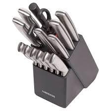 farberware kitchen knives farberware cutlery stainless steel 15 knife block set target