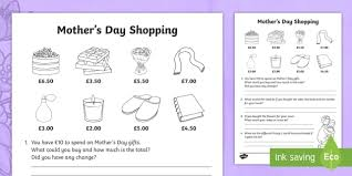 s day shopping new s day shopping activity sheet s day