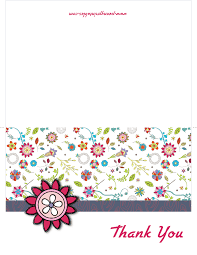 thank you card template thank you cards free print for