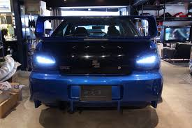 custom subaru hatchback rhdjapan car shop glow custom led tail lights smoked ver 1