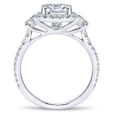 white gold engagement rings cheap 14k white gold 3 cushion cut halo 14k white gold