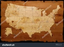 usa map on wood texture stock photo 35524408