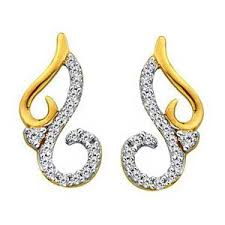 real earrings bling fancy curve design earrings made with real gold and