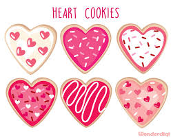 heart shaped items valentines day clipart heart cookie clip heart shaped
