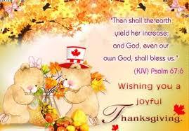 wishing you a joyful happy thanksgiving teddy card