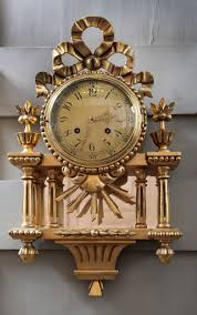 antique swedish hand carved gilded wall clock at 1stdibs