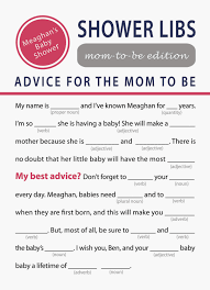 baby mad libs printable baby shower for charming printable baby