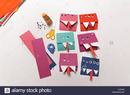monster invitation home made monster invitation cards stock photo royalty free image