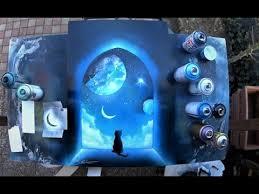 cat on window spray paint art by skech youtube color winter
