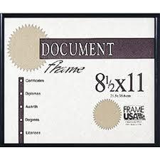 document frame metal certificate frames