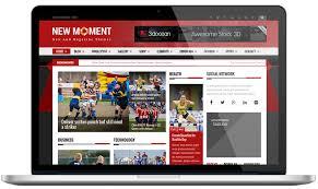 new moment free magazine wordpress theme