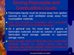 what should be stored in a flammable storage cabinet occupational safety and health ppt download