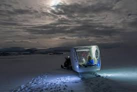 sleep under the northern lights the mobile hotel room where you sleep under the northern lights