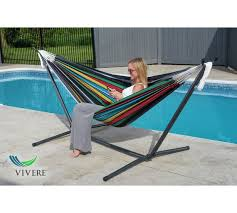 Folding Hammock Chair Buy Vivere Double Cotton Hammock Chair With Stand Rio Night At