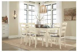 cheap dining room tables with chairs woodanville dining room table and chairs set of 7 ashley