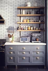 Gray Kitchen Design Ideas Townhouse Open Kitchen Shelving - Kitchen shelves and cabinets