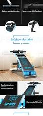pu leather foldable sit up bench supine board home use fitness