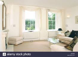 show home interior furnished living room stock photo royalty