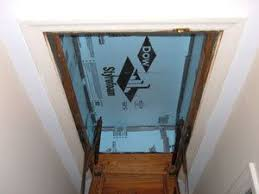 insulating hideaway stairs styrofoam insulation attic stairs