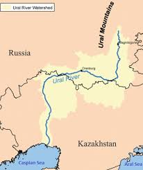 map of europe and russia rivers the ural river runs through kazakhstan