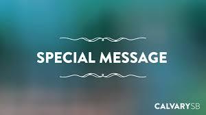 calvary chapel santa barbara special messages