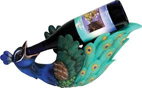 peacock wine bottle holder home kitchen