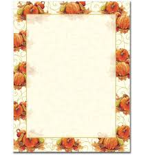 pumpkin swirl letterhead printer paper office