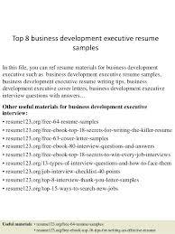 business development executive resume sample business operations