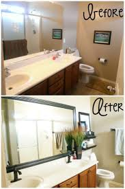 Cheap Bathroom Ideas Makeover by Best 25 Mirror Border Ideas On Pinterest Tile Around Mirror