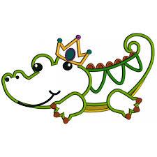 mardi gras alligator alligator mardi gras applique machine embroidery design digitized