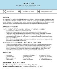 Cosmetic Resume Examples by Cosmetology Resume Example Hair U0026 Makeup