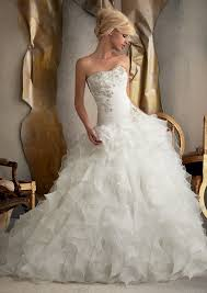 sale wedding dresses custom made hot sale luxury quality white beaded organza ruffle