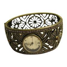 cuff bracelet watches images Signed heidi daus art deco style hinged cuff bracelet watch the jpg