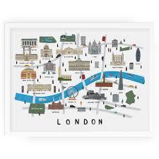 alex foster illustration top drawer london map print
